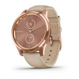 Garmin Vivomove Luxe 18K Rose Gold с Light Sand кожена каишка
