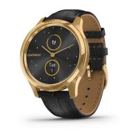 Garmin Vivomove Luxe 24K Gold с Black Embossed кожена каишка