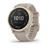 Garmin Fenix 6S Pro Solar Light Gold с Light Sand каишка