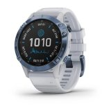 Garmin Fenix 6 Pro Solar Mineral Blue с Whitestone каишка