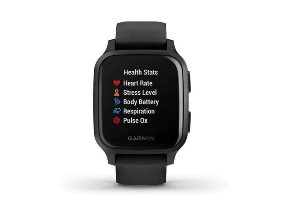 GARMIN VENU SQ MUSIC BLACK СЪС SLATE BEZEL  1