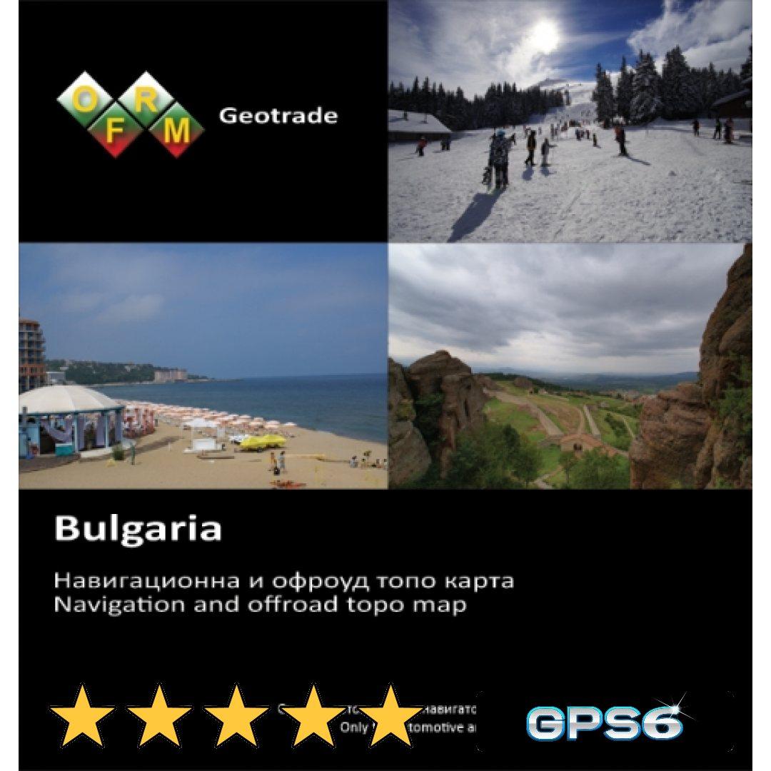 Karta Na Blgariya Ofrm Geotrade Cena 79 Lv Kod 1111 18